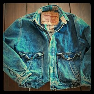 Vintage Levi Flannel Denim Jacket